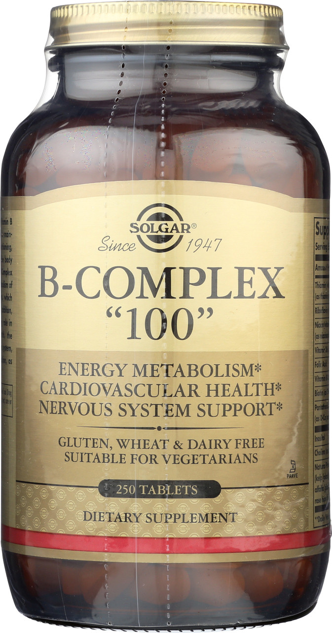 """B-Complex """"100"""" 250 Tablets"""