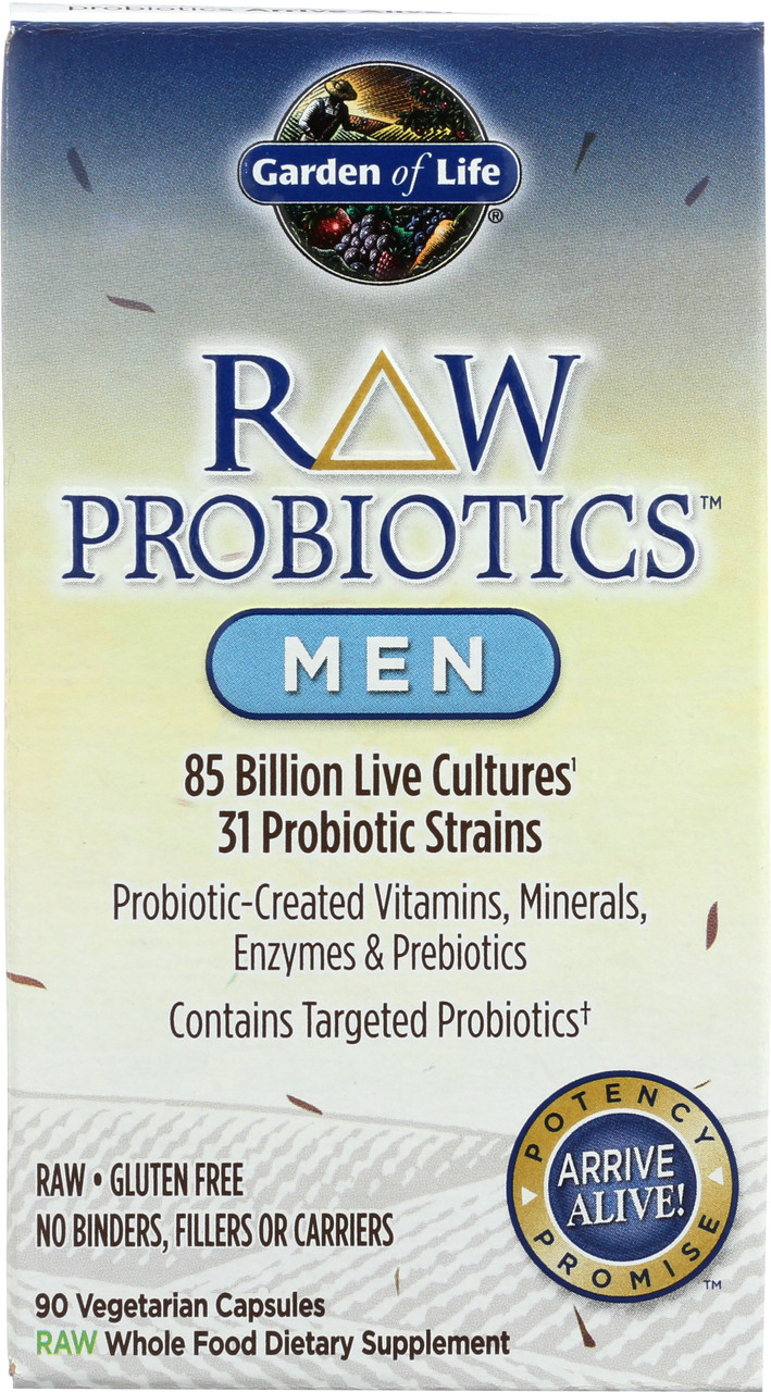 Raw Probiotics Men 90 Capsules