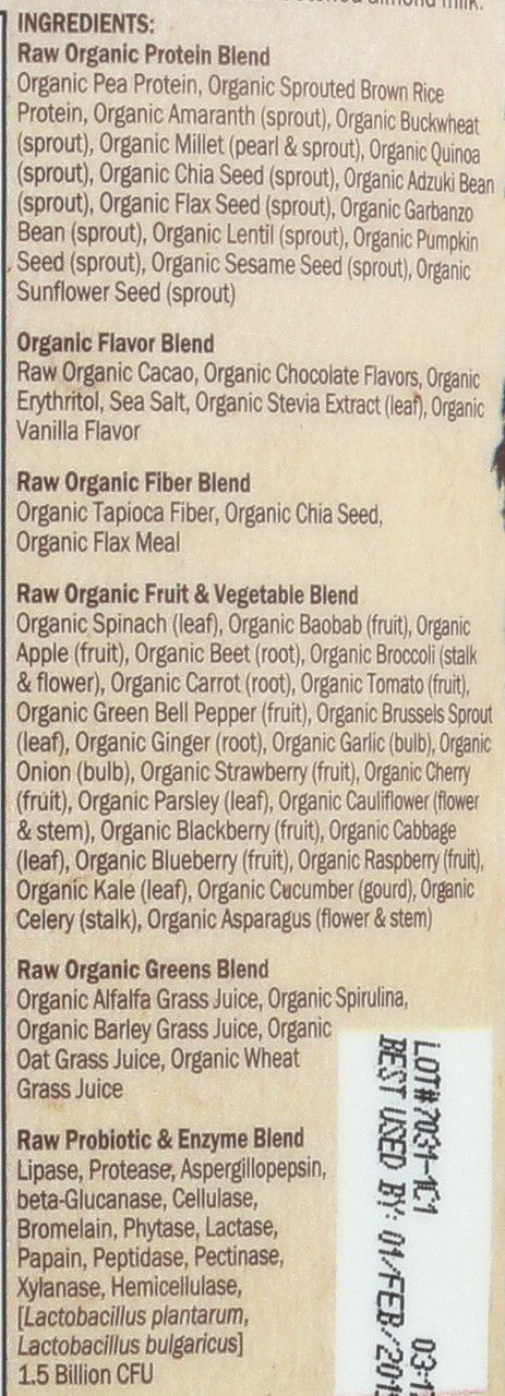 RAW Organic Meal Chocolate 986g Powder