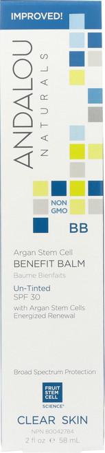 Argan Stem Cell Benefit Balm Un-Tinted Spf 30 Clear Skin