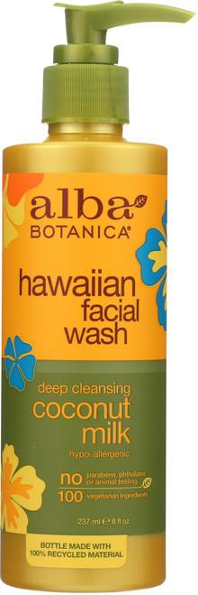 Facial Wash Coconut Milk Alba Coconut Milk Fcl Wsh 8Oz
