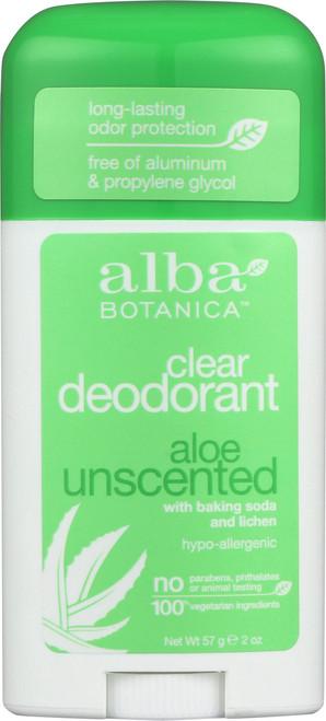 Deodorant Aloe Unscented Alba Deod Stick Aloe Unsct 2Oz
