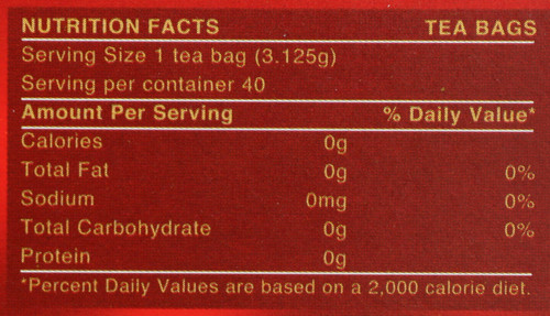 Tea Gold Blend 40 Tea Bags 4.4oz