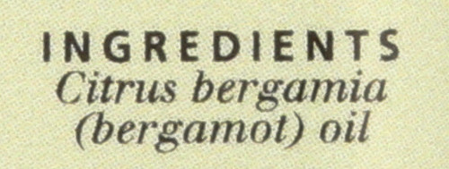 Bergamot, Natural, Essential Oil Bergamot 0.5 Fl oz 15 Ml