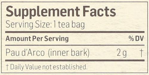 Tea Pau D'Arco Herbal Supplement 24 Tea Bag 1.69 Ounce