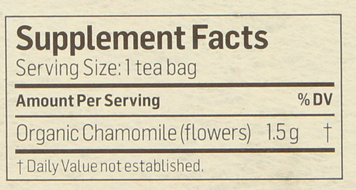 Tea Chamomile Herbal Supplement 24 Tea Bag 1.27 Ounce