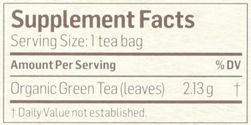 Tea Green Herbal Supplement 24 Tea Bag 1.8 Ounce