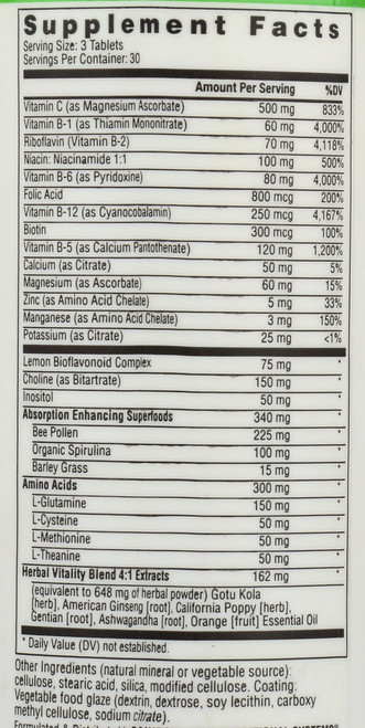 Complete B Complex  90 Tablets