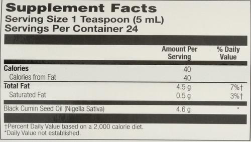 Black Seed Oil, Cold Pressed Natural 4 Fl oz 118mL