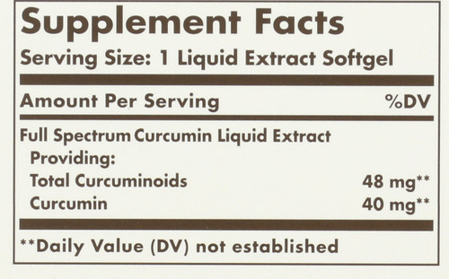 Curcumin Full Spectrum 185x 24 Hour Support 90 Softgels