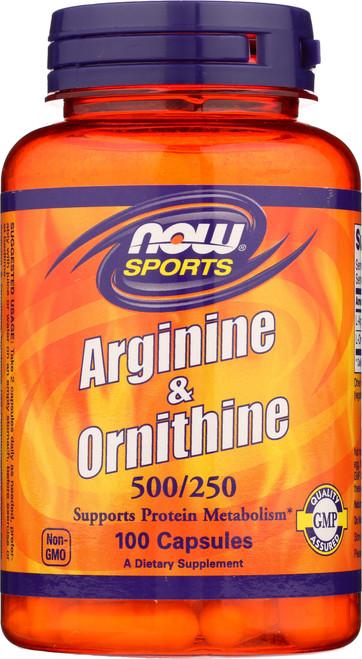 L-Arginine & Ornithine 500/250 mg - 100 Capsules