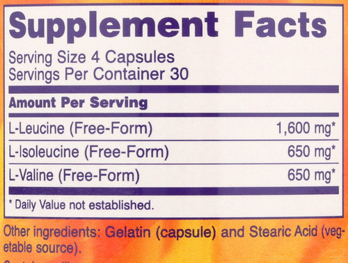 Branched Chain Amino Acids - 120 Capsules
