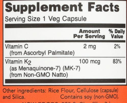 MK-7 Vitamin K-2 100 mcg - 60 Veg Capsules