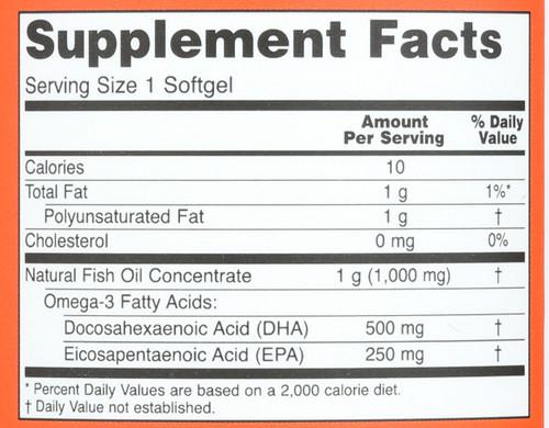 DHA-500 - 180 Softgels