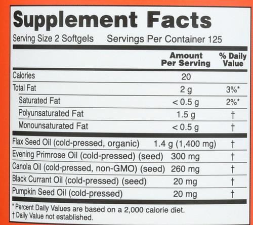Omega 3-6-9 1000 mg - 250 Softgels