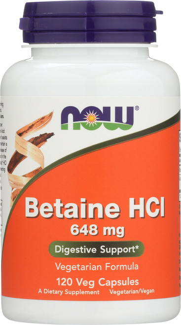 Betaine HCl 648 mg - 120 Capsules
