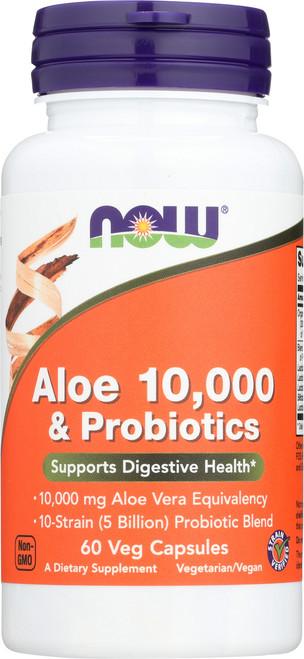 Aloe 10,000 & Probiotics - 60 Veg Capsules