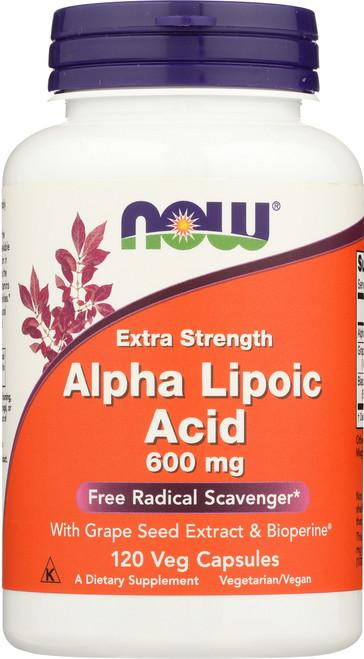 Alpha Lipoic Acid 600 mg - 120 Veg Capsules