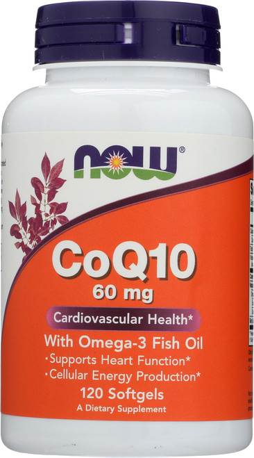 CoQ10 60 mg w/Omega 3 Fish Oils - 120 Softgels