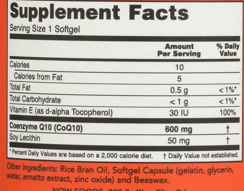CoQ10 600 mg - 60 Softgels