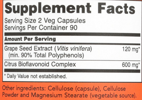 Grape Seed 60 mg - 180 Veg Capsules