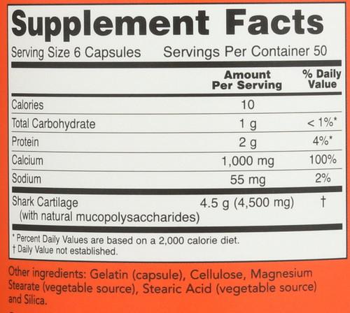 Shark Cartilage 750 mg - 300 Capsules