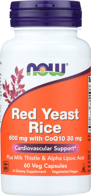 Red Yeast Rice 600 mg with CoQ10 30 mg - 60 Veg Capsules