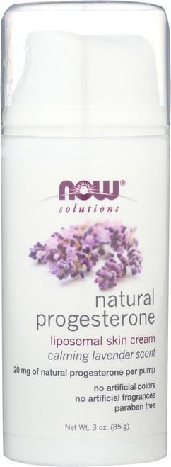 Natural Progesterone Liposomal Skin Cream with Lavender - 3 oz.