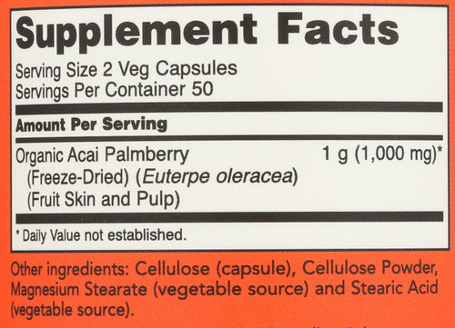 Acai 500 mg - 100 Veg Capsules