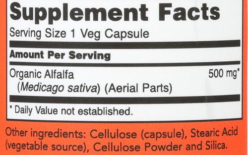 Alfalfa Leaf 500 mg - 100 Capsules