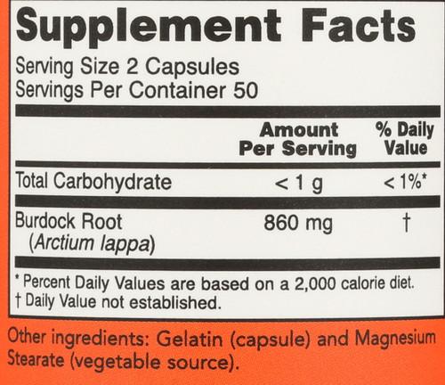 Burdock Root 430 mg - 100 Capsules