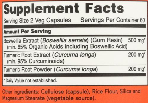 Boswellia Extract 250 mg - 120 Veg Capsules