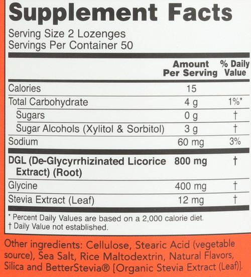 DGL 400 mg - 100 Lozenges