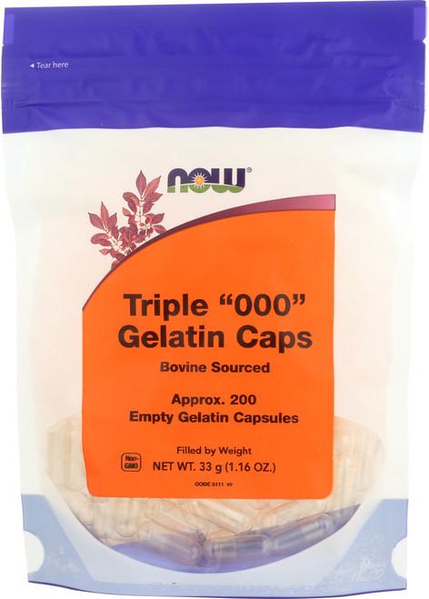 """Gelatin Caps """"000"""" - 200 gel caps"""
