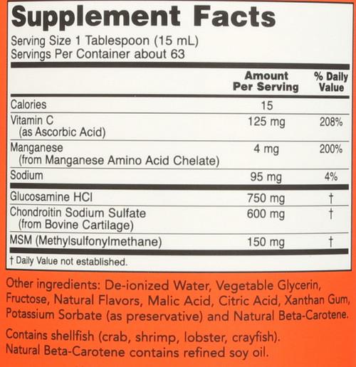 Liquid Glucosamine & Chondroitin with MSM - 32 oz.