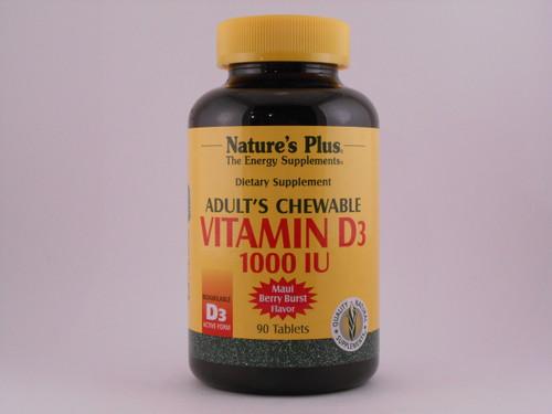 Adult Vitamin D3 1000 IU 90 Chewables
