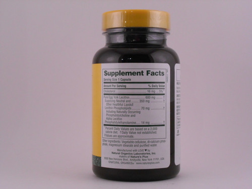 EGG Yolk Lecithin 600mg 90 VCaps