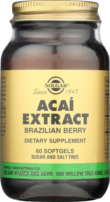 Acai Extract Brazilian Berry 60 Softgels