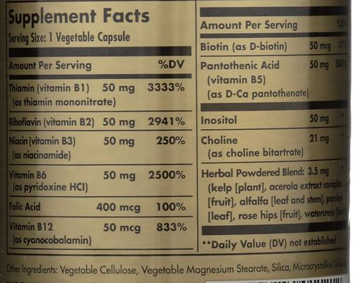"""B-Complex """"50"""" 100 Vegetable Capsules"""
