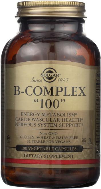 """B-Complex """"100"""" 100 Vegetable Capsules"""