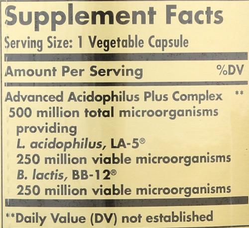 Advanced Acidophilus Plus 240 Vegetable Capsules