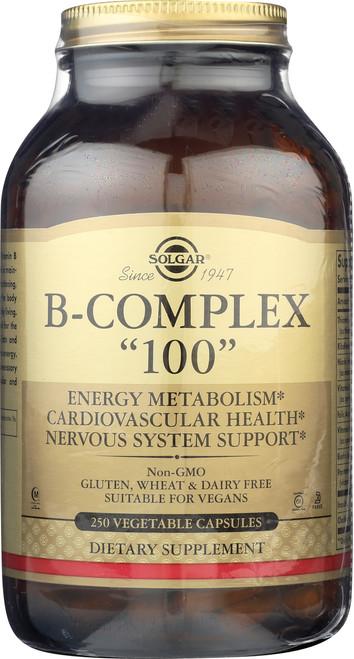 """B-Complex """"100"""" 250 Vegetable Capsules"""