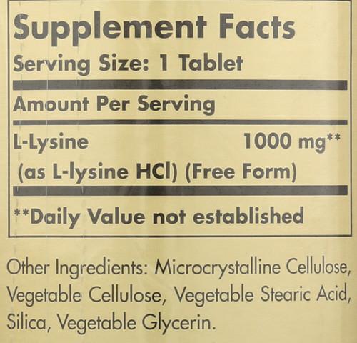 L-Lysine 1000mg 250 Tablets