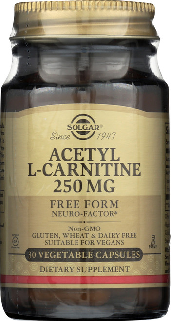 Acetyl L-Carnitine 250mg 30 Vegetable Capsules
