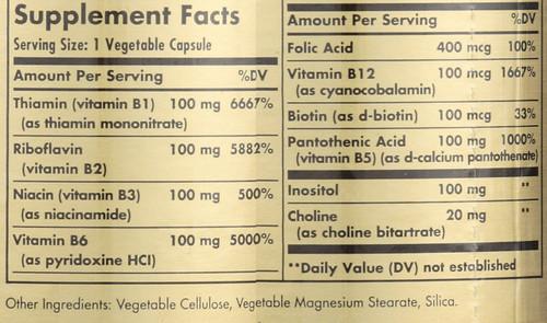 """B-Complex """"100"""" 50 Vegetable Capsules"""