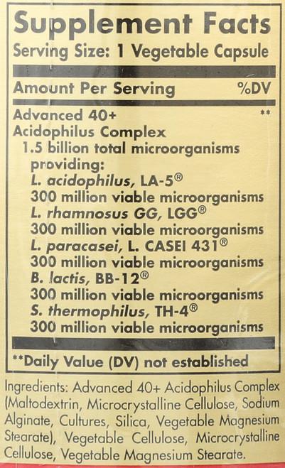 Advanced 40+ Acidophilus 60 Vegetable Capsules