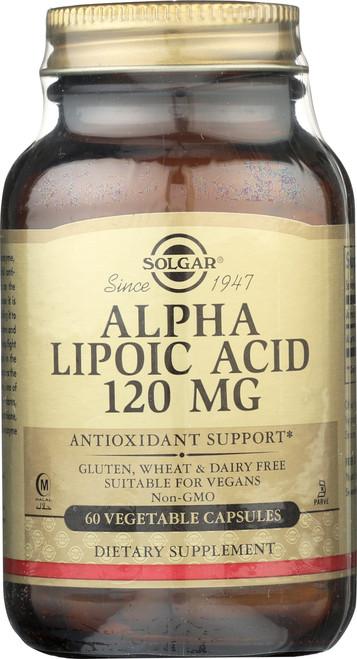Alpha Lipoic Acid 120mg 60 Vegetable Capsules
