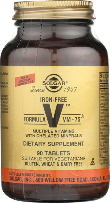Iron-Free Formula VM-75 90 Tablets