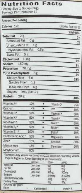 RAW Organic Meal Chocolate (Mini) 606g  Powder
