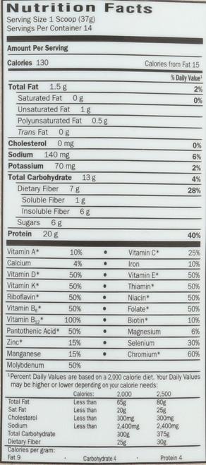 RAW Organic Meal (Mini) 593g  Powder